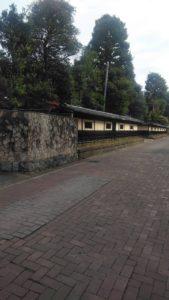 ホテル前に広がる古河城家老の武家屋敷